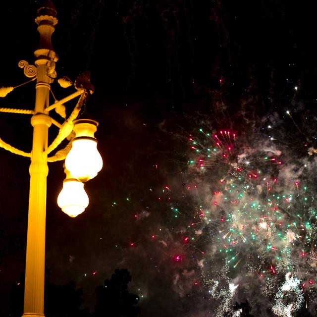 """Fireworks, Las Fallas, Valencia"" stock image"