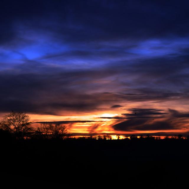 """Colourful Sunset"" stock image"