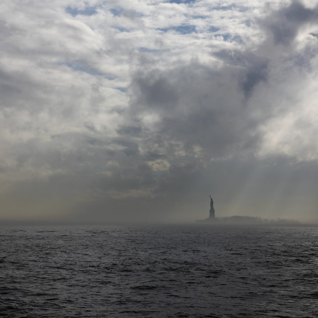 """Stormy liberty"" stock image"