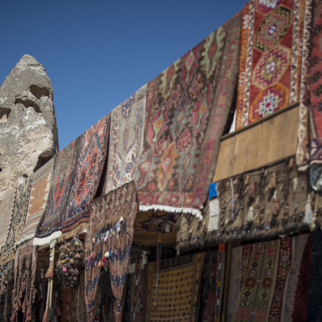 """Turkish rugs shop"" stock image"