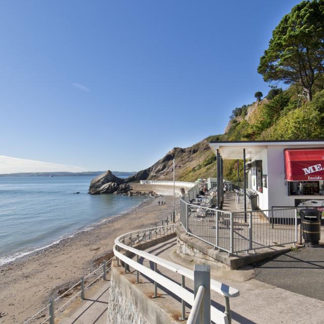 """Meadfoot Beach Cafe - Torquay"" stock image"