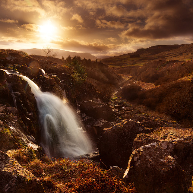 """Loup of Fintry Waterfall"" stock image"