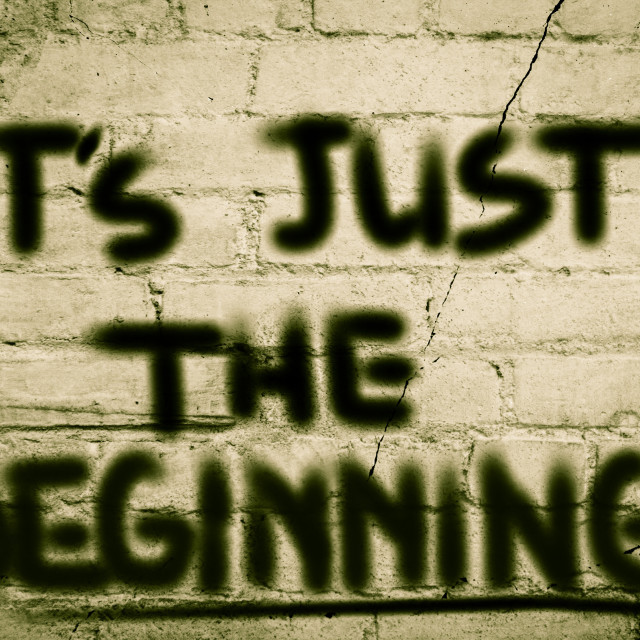 """""""It's Just The Beginning Concept"""" stock image"""