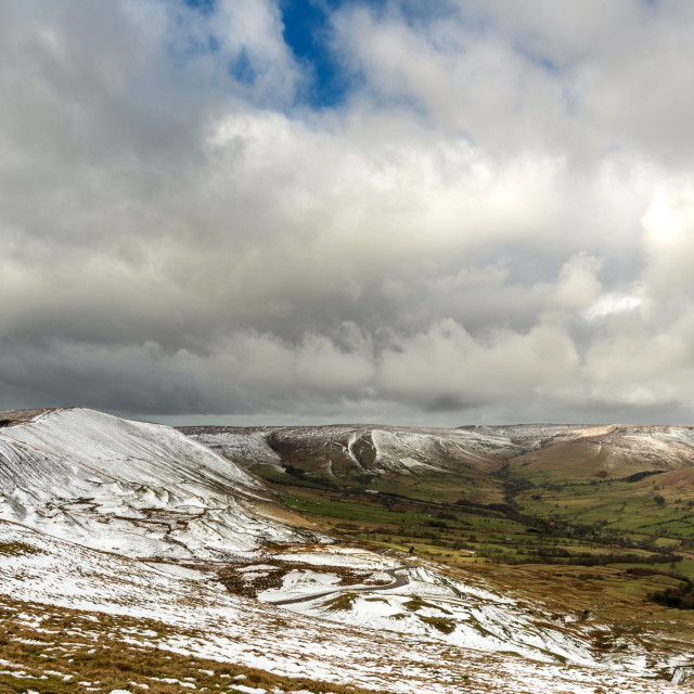"""View from Mam Tor"" stock image"
