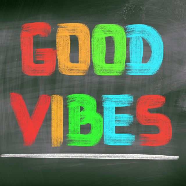 """""""Good Vibes Concept"""" stock image"""