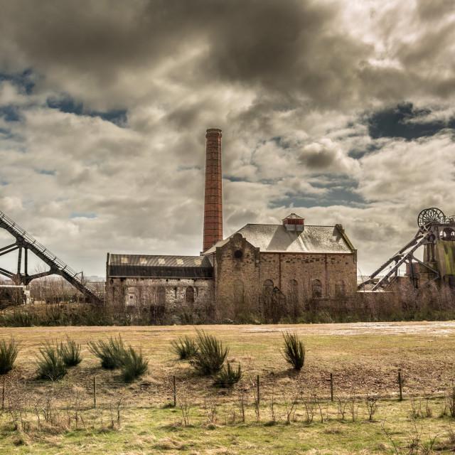 """Pleasley Colliery"" stock image"