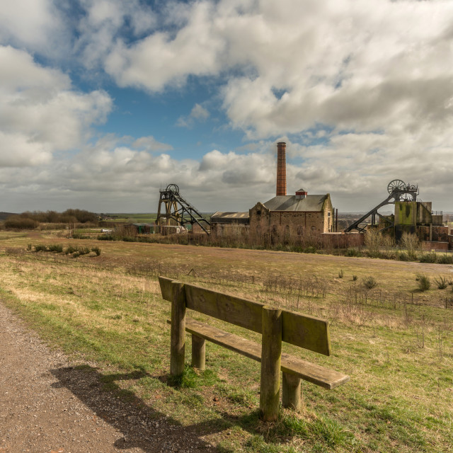 """Pleasley Colliery"" stock image"