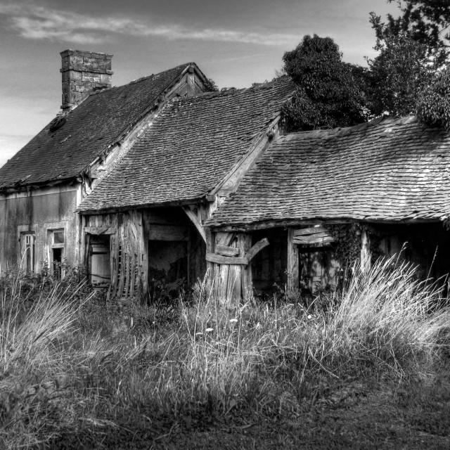 """Abandoned Rural Farmhouse"" stock image"