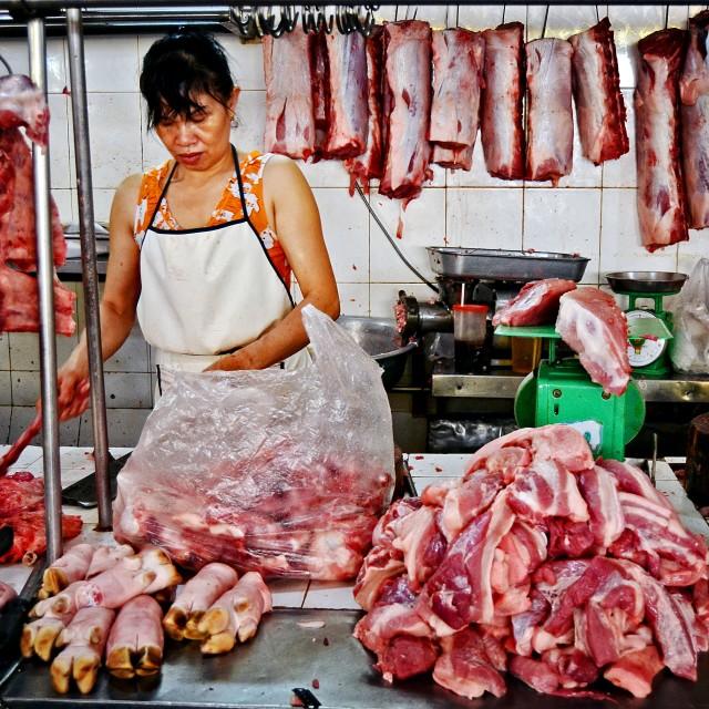 """Cho Ben Thanh Market"" stock image"