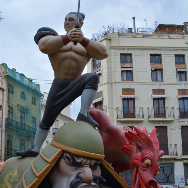 """Sculpture made for Las Fallas, Valencia"" stock image"