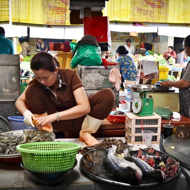 """Đồng Xuân Market"" stock image"