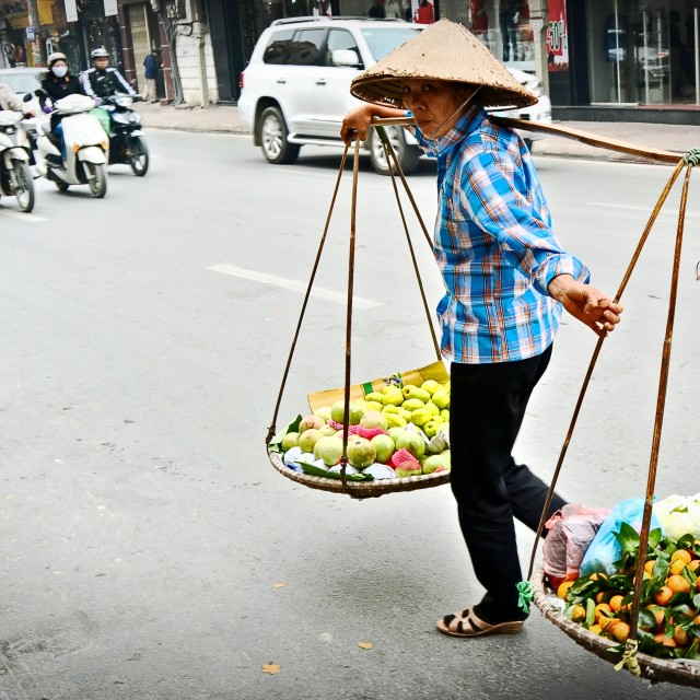 """Selling in the streets of hanoi"" stock image"