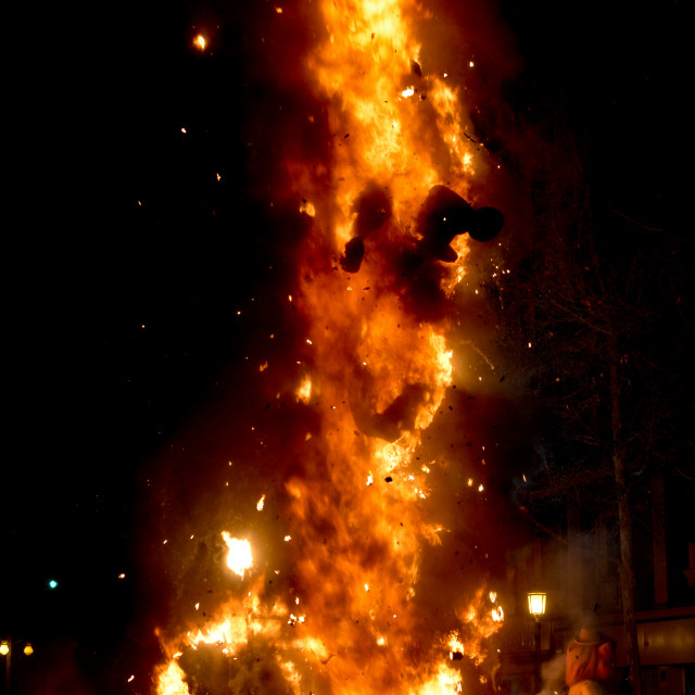 """Burning sculpture during Las Fallas festival"" stock image"