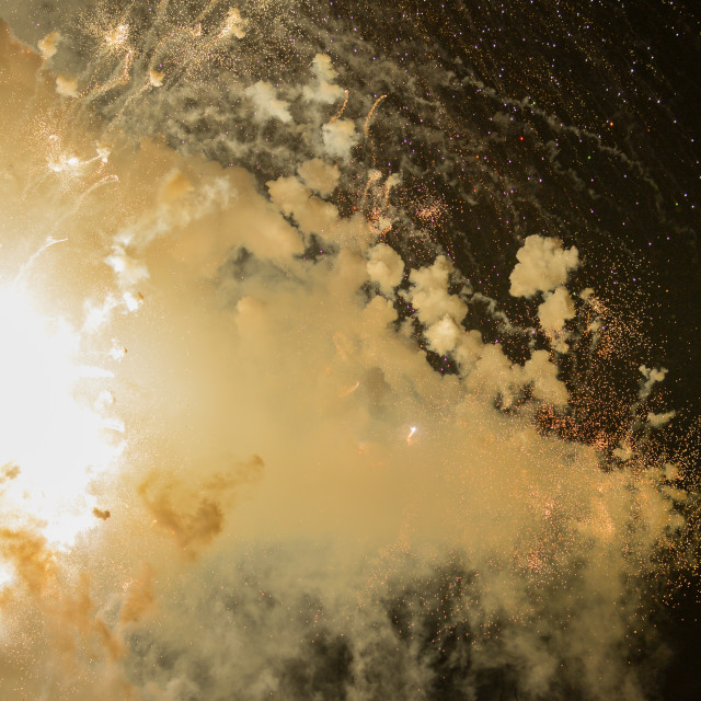 """Fireworks during Las Fallas festival"" stock image"
