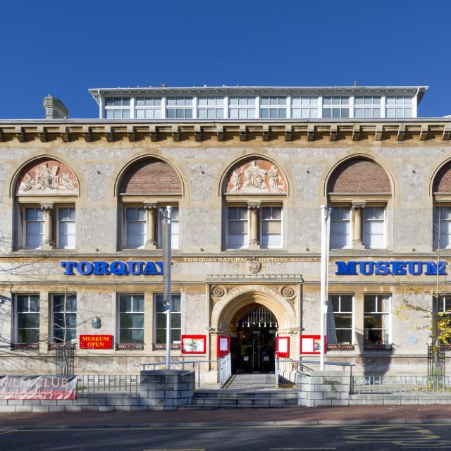 """The Museum - Torquay"" stock image"
