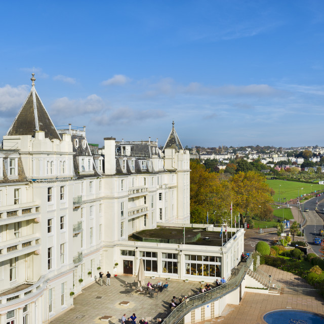 """The Grand Hotel - Torquay"" stock image"