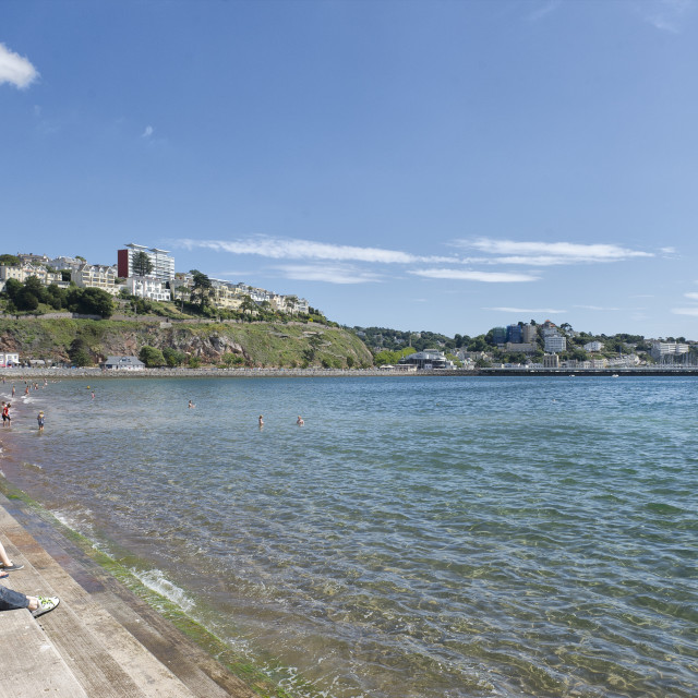 """""""Torre Abbey Sands - Torquay"""" stock image"""