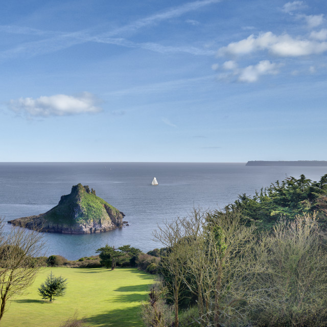 """Thatcher Rock and Tor Bay - Torquay"" stock image"