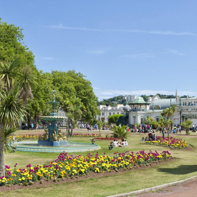 """Pavilion and Cary Gardens - Torquay"" stock image"