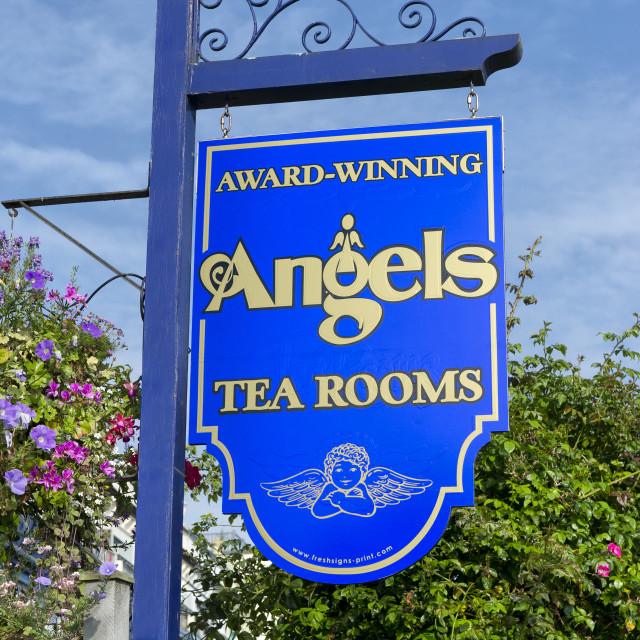 """Angels Tea Rooms - Babbacombe - Torquay"" stock image"