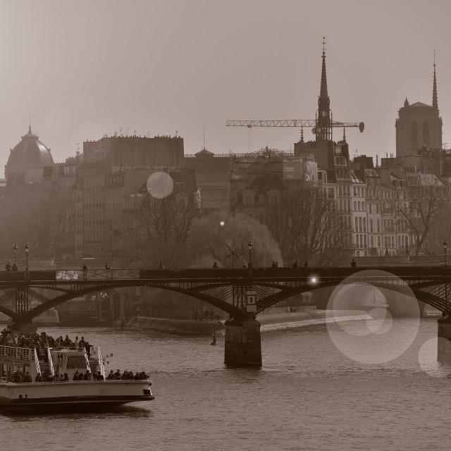 """""""France, Paris, Notre Dame de Paris seen from Seine"""" stock image"""
