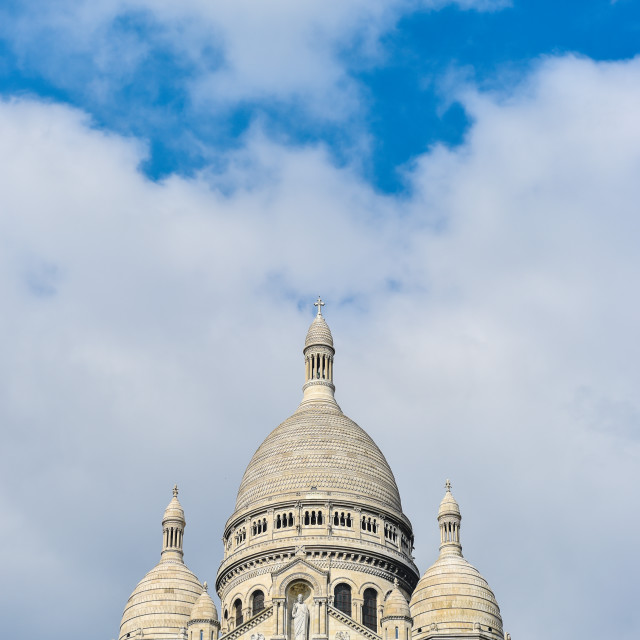 """The Basilica of the Sacred Heart in Montmartre-Paris"" stock image"