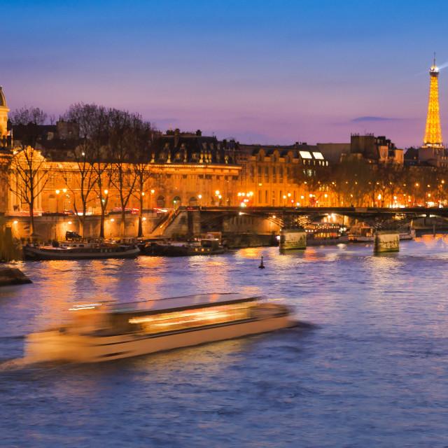 """Paris at Night-Tour Eiffel"" stock image"