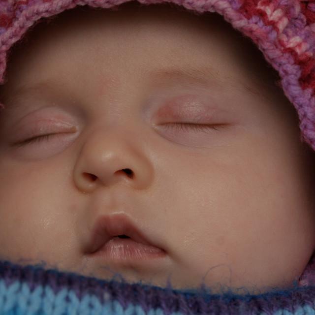 """Sleeping Baby Face"" stock image"