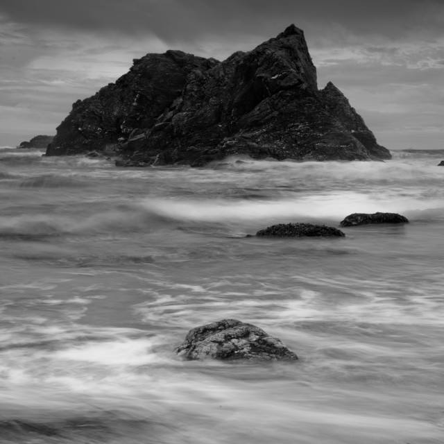 """Soar Mill Cove Black and White"" stock image"