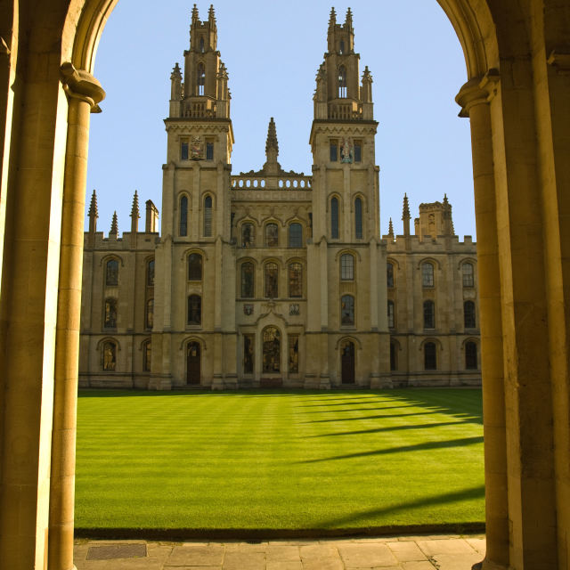 """Oxford University - All Souls College"" stock image"