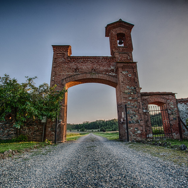 """Gateway to the Italian Villa"" stock image"