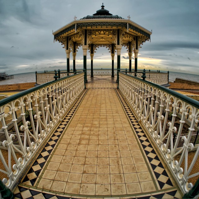 """Brighton Bandstand"" stock image"