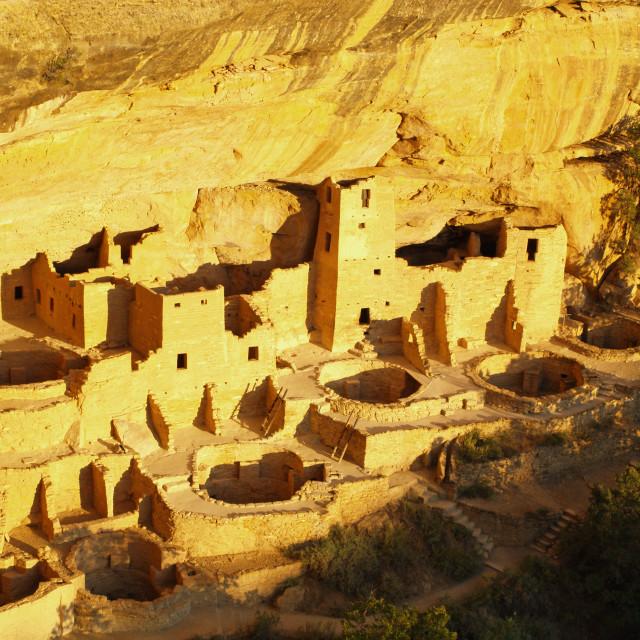 """Cliff Palace at Mesa Verde"" stock image"