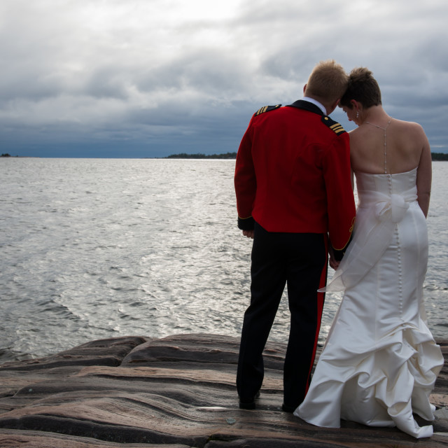 """""""Love by the water"""" stock image"""