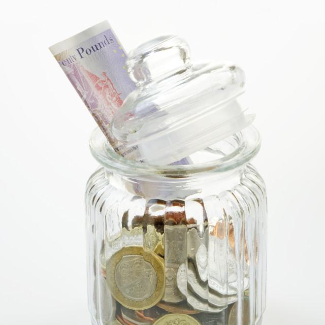 """""""Savings Jar"""" stock image"""