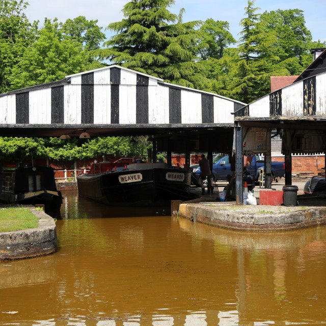 """Boatyard at Worsley"" stock image"