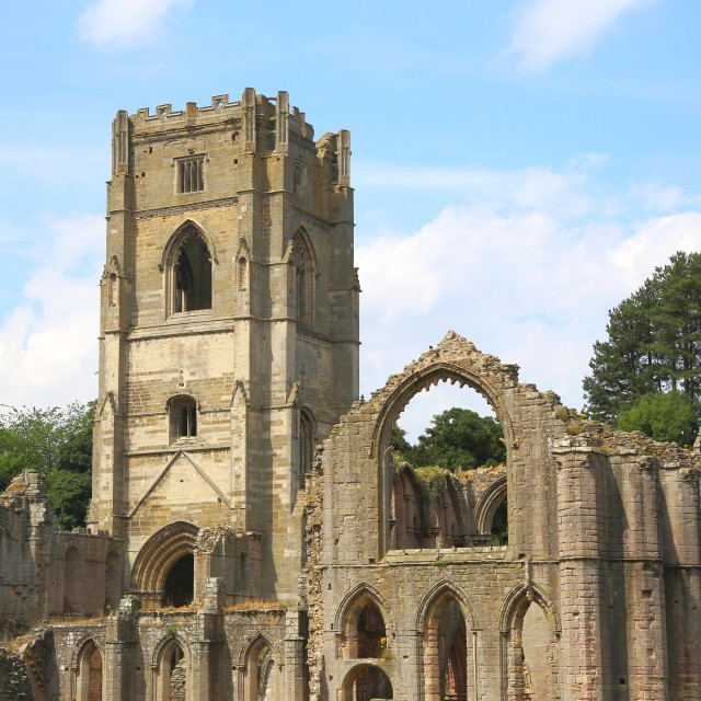 """Fountains Abbey"" stock image"
