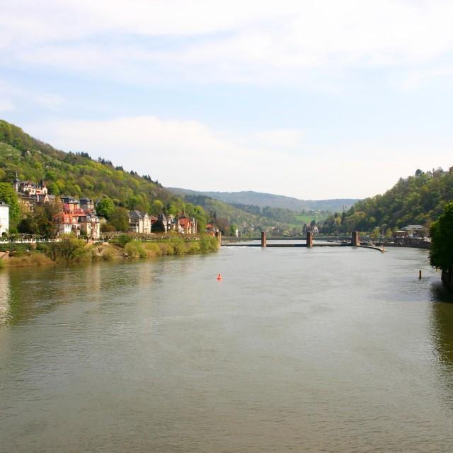 """River Neckar"" stock image"