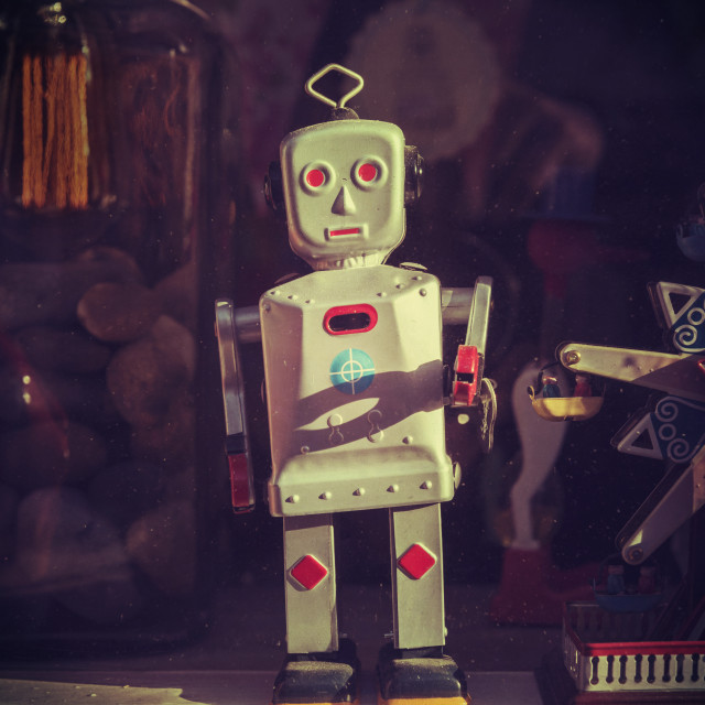 """Wonky Robot"" stock image"