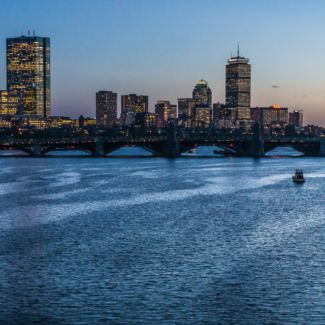 """Sunset Boston"" stock image"