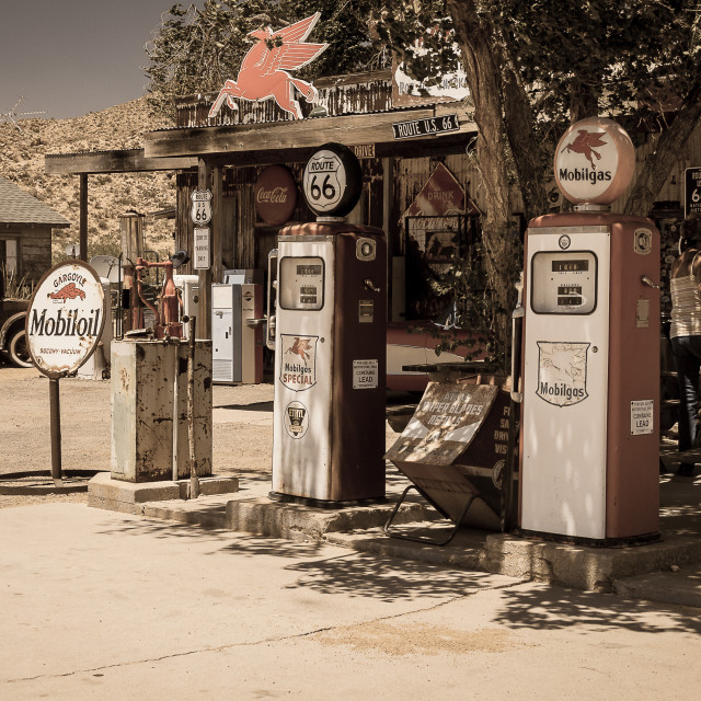 """""""Gas Station"""" stock image"""