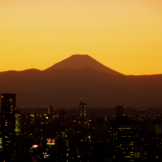 """""""Fuji over the city"""" stock image"""