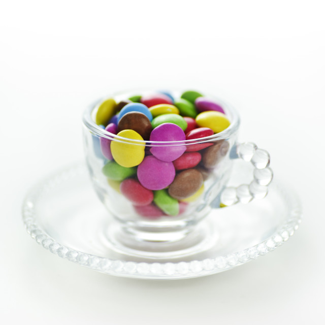 """Cup of Smarties"" stock image"