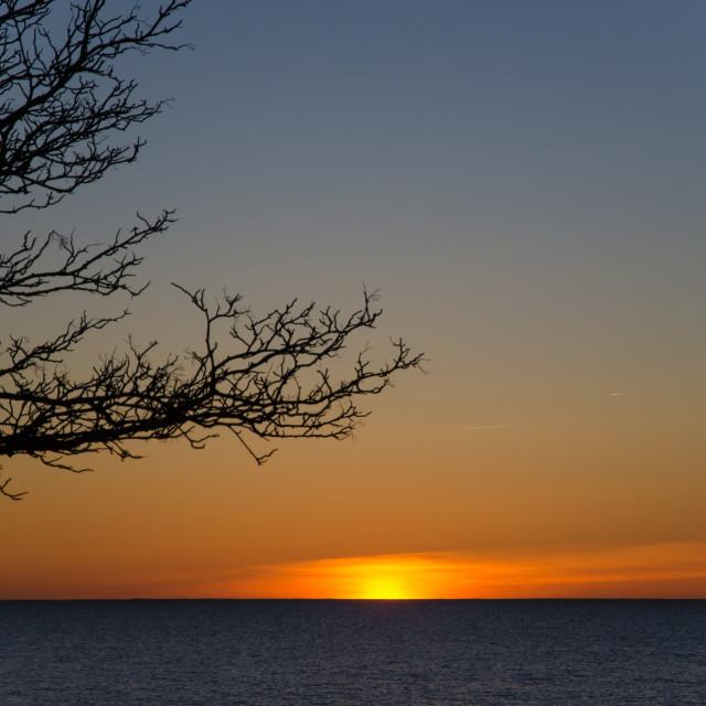 """Nordic sunset"" stock image"