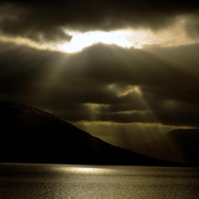 """Loch Earn Rising"" stock image"
