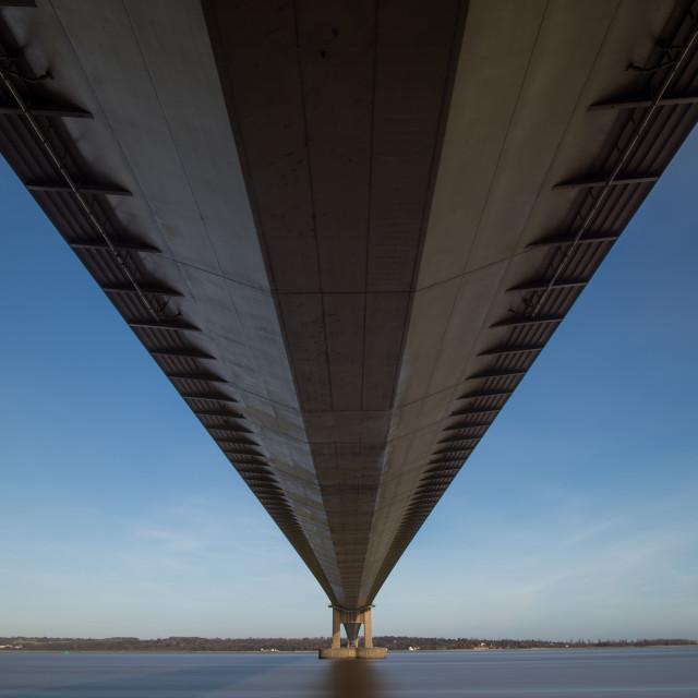 """Humber Bridge - underside"" stock image"