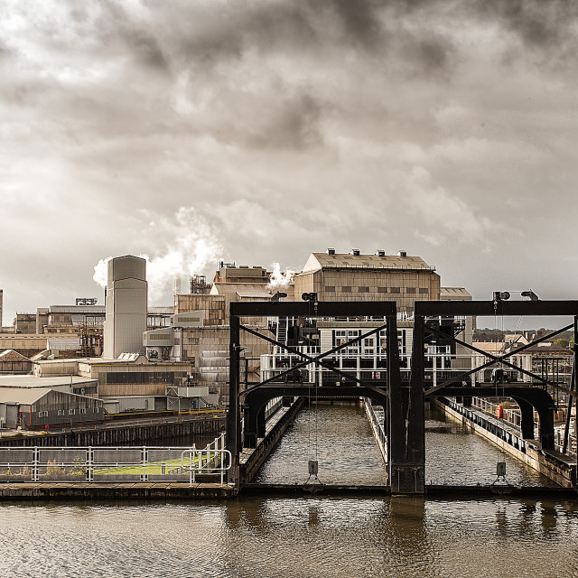 """Anderton boat lift."" stock image"