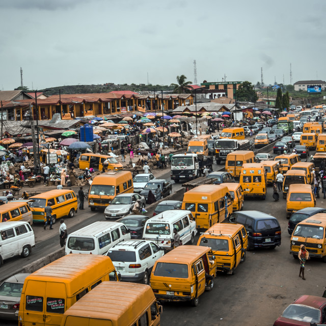"""""""Busy African Road"""" stock image"""