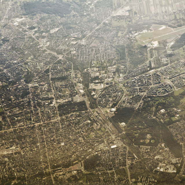 """""""Aerial view of Lodz, Poland"""" stock image"""