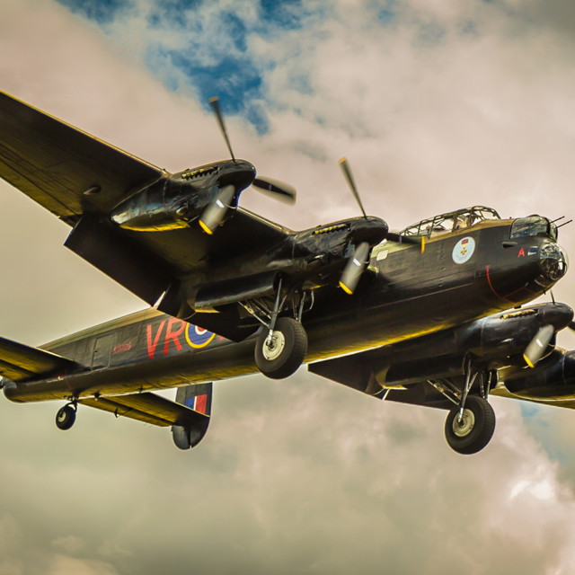 """Canadian lancaster bomber"" stock image"